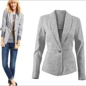 ⬇️ CABI Beachwalk Linen Blend Blazer Jacket Size 6